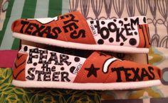 Hand painted Texas Longhorn Tom's by: Karen Laughlin