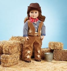 K3937, Giddyup Doll Clothes & Accessories Kwik Sew Patterns, Doll Sewing Patterns, Doll Toys, Dolls, Cowgirl Outfits, Sewing Stores, Sewing Crafts, Doll Clothes, 18th