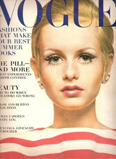 Twiggy Vogue cover / Vintage Vouge Covers