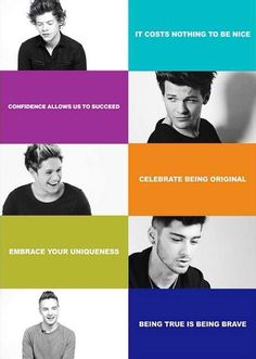 One Direction's anti bullying campaign. Some celebrities are using there fame to help others. This is just one campaign. -RS