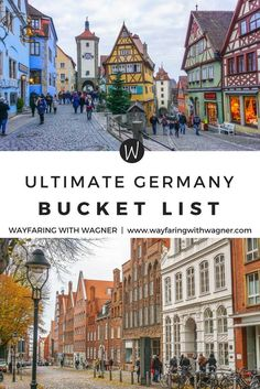 This ultimate Germany bucket list is comprised of Germany's most famous tourist attractions, historical sites, and stunning views - Europe travel guide - top things to do in Europe Cool Places To Visit, Places To Travel, Travel Destinations, Vacation Places, Visit Germany, Germany Travel, Trip To Germany, European Destination, European Travel
