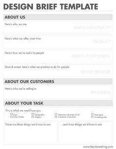 Product Design Brief Template  Map Wireframe Flow UiUx