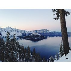 Crater lake, Oregon, photo taken by Kevin Russ