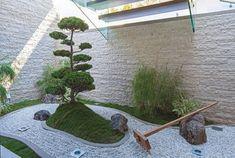 Moderner Steingarten-holen Sie die japanische Kultur zu sich nach Hause