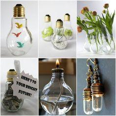 bastelideen diy projekte alte glühbirnen