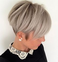 70 Short Shaggy, Spiky, Edgy Pixie Cuts and Hairstyles Ash Blonde Pixie with Nape Undercut Short Pixie Haircuts, Pixie Hairstyles, Short Hairstyles For Women, Blonde Hairstyles, Pixie Bob, Hairstyle Short, Bob Haircuts, Hairstyles Haircuts, Medium Hairstyles