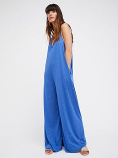 Fulton Jumpsuit | Super soft and oversized American made jumpsuit featuring extreme wide legs.    * V-neckline and dropped armholes.   * Lightweight and easy fabric.   * Hip pockets.