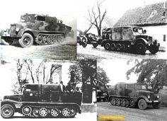 Német gyártású Hansa Lloyd féllánctalpas tüzérségi vontató és szállító jármű a magyar haderőben.