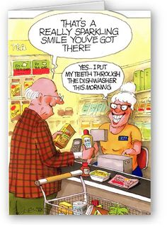 Ideas for spring cleaning quotes funny house truths Cartoon Jokes, Funny Cartoons, Alter Humor, Old Age Humor, Dental Jokes, Aging Humor, Senior Humor, Have A Laugh, Dental Care