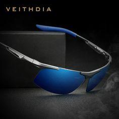 5e71c85bd VEITHDIA Aluminum Magnesium Men's Sunglasses Polarized Men Coating Mirror  Glasses oculos Male Eyewear Accessories For Men