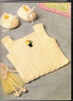 Camisetitas y bombachos para bebés para el verano (lomargo) Crochet Hat Tutorial, Crochet Patron, Baby Knitting Patterns, Crochet Baby, Free Pattern, Lily, Kids Rugs, Baby Shower, Creative