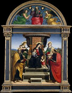 Madonna and Child Enthroned with Saints ~ ca1504, Raphael