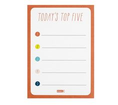 This Top 5 Priority List is great for anyone on a busy schedule or with lots of tasks to juggle.