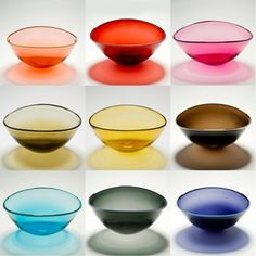 Lovely hand blown glass bowls