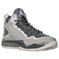 Men's Jordan Super.Fly 2 PO Basketball Shoes | Finish Line | Wolf Grey/White/Cool Grey