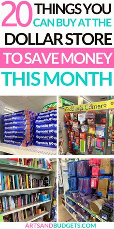 20 Things You Can Buy At The Dollar Store To Save Money - Arts and Budgets - Finance tips, saving money, budgeting planner Ways To Save Money, Money Tips, Money Saving Tips, Money Budget, Savings Planner, Budget Planner, Frugal Living Tips, Frugal Tips, Dollar Store Crafts