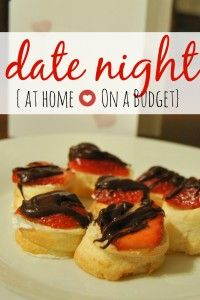"At Home Date Night On a Budget ""No easy babysitter available!  Couple that with a tight budget, and we knew we needed to get creative!  This is why I invented the no-prep, at-home, low-cost date – that I call the ""Dessert Date"".  Thinking it was a great idea, I wanted to share it with you!""  For the whole story visit http://www.happywivesclub.com/at-home-date-night-on-a-budget/"
