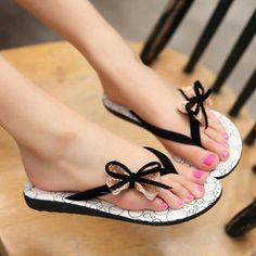 Buy 'Smoothie – Bow-Accent Flip Flops' at YesStyle.com plus more China items and get Free International Shipping on qualifying orders.