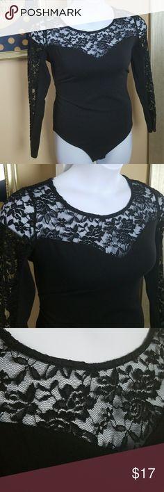Curvy Sense Lace Detail Plus Size Body Suit 2X Brand: Curvy Sense Size: 2X 18/20 Description: Lace Detail Black Bod0p Material: 95% Cotton 5% Spandex  Condition: New With Tags Flaws: None Curvy Sense Tops Tees - Long Sleeve