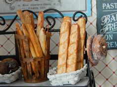 Baguette Traditional Handmade Miniature Breads by JansPetitPantry