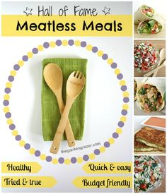 Absolute favorite meatless/vegetarian recipes!! Perfect for everyone... including families and college kids. They're healthy, easy, and extreeemely delicious.