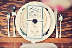 elegant menu by Vintage Invites