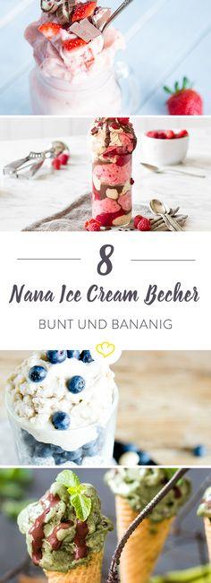 Cremiges Eis aus purer Banane: Einfach einfrieren, mit verschiedenen Früchten oder Nüssen mixen. Wie aus Zauberhand entstehen verführerische Nana-Eisbecher.