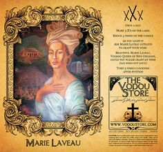 Marie Laveau 7-Day Candle Label with Petition (my idol!)