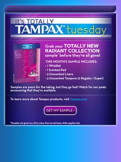 Free Tampax kit, limited supply-