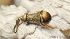 ✿ Pandantiv Talisman Ochi de Tigru 15,00 RON Gold Rings, Unique, Handmade, Shopping, Jewelry, Hand Made, Jewlery, Bijoux, Schmuck