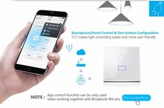 Broadlink Smart Home Original Touching 1 Load Panel Switch Wireless Remote Light Controller(UK Plug) - Tmart I like this. Do you think I should buy it? Home Automation Software, Home Automation System, Smart Home Automation, Wifi Wall Switch, Smartwatch, Apple Technology, Touch Light Switch, Touch Screen Technology