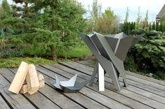 Steel Fire Pit PHOENIX FLOWER Contemporary Design от ArpeStudio