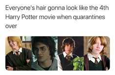 Everyone's Hair Gonna Look Like The Harry Potter Movie When Quarantine Is Over - Meme - Shut Up And Take My Money - Memes Harry Potter Film, Harry Potter Jokes, Harry Potter Fandom, Harry Potter Things, Stupid Funny Memes, Funny Relatable Memes, Hilarious, Funny Movie Memes, Yer A Wizard Harry