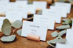 1) Description Of Item: Copper wine cork name card place holders - a beautiful addition to any wedding table setting. 2) Size: Each cork is about 2 inches long and .75 inches in height. 3) Options: [Quantity] - Please choose quantity desired from drop down menu. 4) Customization: