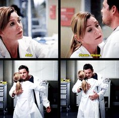 Grey's Anatomy. Meredith and Alex <3 I love that she's one of the few people that really gets Alex.