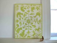 Green Otomi 11x14 Print Mounted on Canvas by RikiZarris on Etsy, $30.00