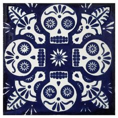 Day of the dead tiles.
