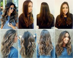 Brunette to bronde balayage highlights by Faye Goodwin...hair color inspired by Kate Beckinsale