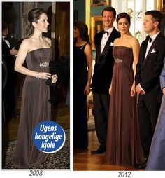 The Royal Watcher - Crown Princess Mary of Denmark recycling long gala dresses