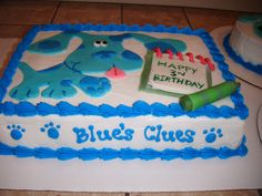 Blue's clues cake for twins