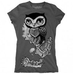 Women's Steadfast Brand Owl With Bookmark Tee