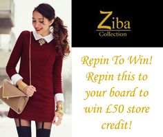 Repin to win £50 to spend at www.zibacollection.co.uk