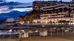 Marbella beach at night