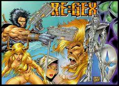 Re:Gex Comic Book Artists, Comic Books, Rob Liefeld, Marvel, The Originals, Fictional Characters, Cartoons, Comics, Fantasy Characters