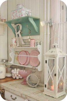 Love the pink pedestal bowl!