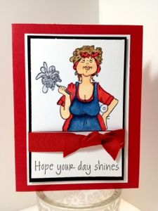 Hope your day shines card Copics stamps