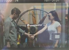 Sean & Lana on set (July 17, 2015)