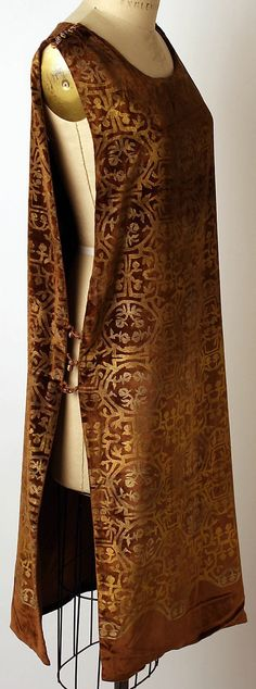 Maria Gallenga, 1920s - silk & glass overlay tunic