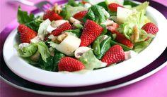 Jordbærsalat med honningdressing