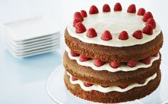Gingerbread Layer Cake with Raspberries and Lemon Buttercream by Anna Olson (Berries, Raspberry) @FoodNetwork_UK